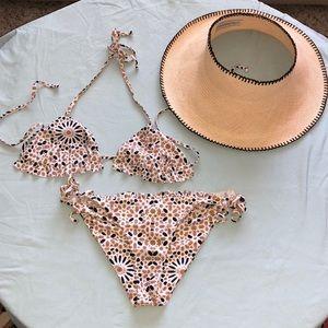 Beach riot mosaic bikini top
